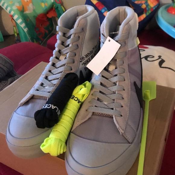 e32bc15797978 Nike Shoes | Blazer Mid Off White Wolf Grey Serena Queen | Poshmark
